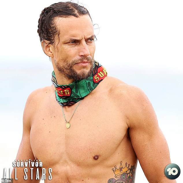 Ahead by a mile! Self proclaimed 'Golden God' and professional model David Genat (pictured) is the overwhelming favourite to win Australian Survivor All Stars with TAB revealing on Wednesday his odds are sitting at $1.05