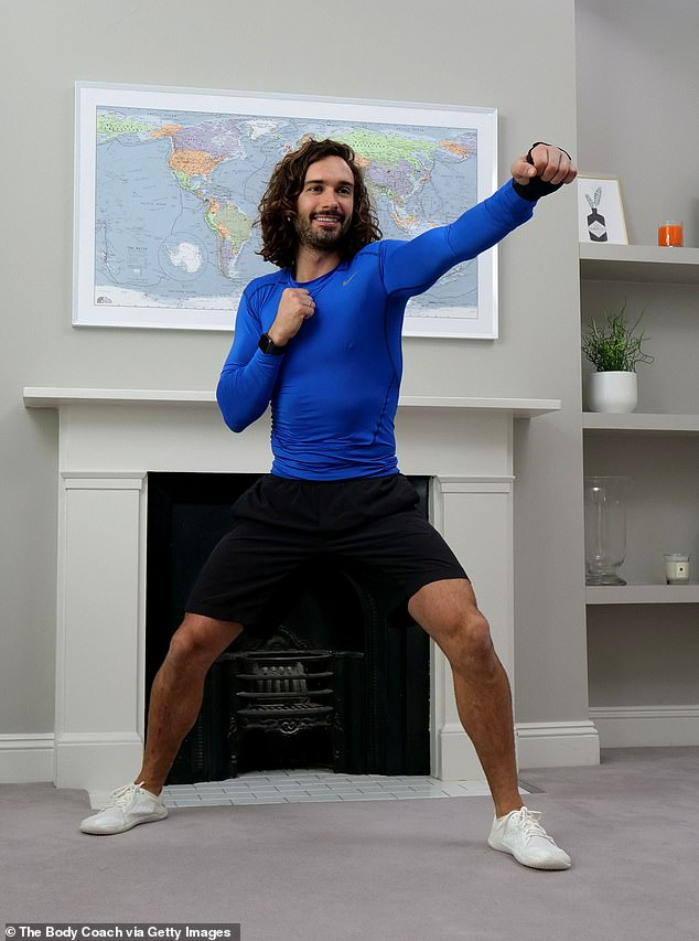 Up and at 'em:The Body Coach, as he is known to fans, is also said to be close to inking a deal with Channel 4 - after more than a million homes tuned in to the lessons, which the 33-year-old has pledged to undertake on a daily basis