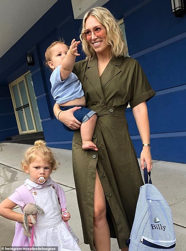 Horse riding, arts and crafts, and tea parties: Inside Phoebe Burgess' self-isolation with children Billy, one, and Poppy, three, at her family's sprawling Southern Highlands estate