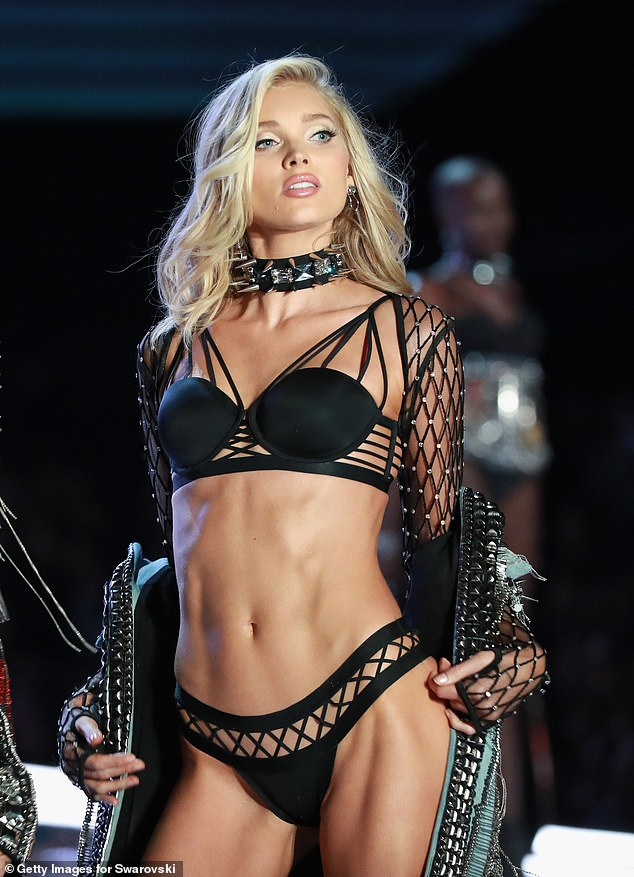 Barre workouts are used by Victoria's Secret models including Elsa Hosk (pictured on the runway in 2017) to tone up before major fashion shows