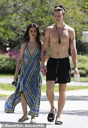 Bonding: Shawn and Camila have been spending much of their time together while self-isolating amid the coronavirus outbreak