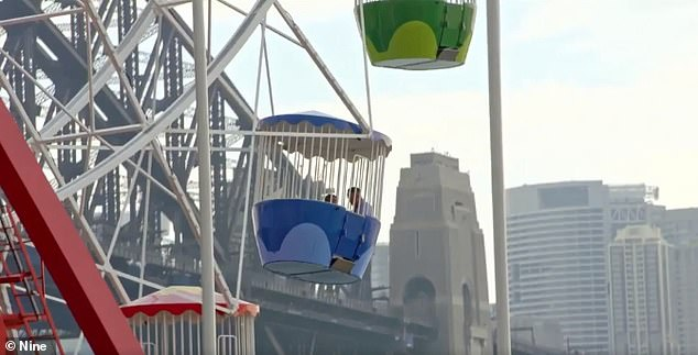 'To the Ferris Wheel!' But with the day already half over, and her chances of getting some action receding faster than Steve's hairline, Mishel brought out the big guns