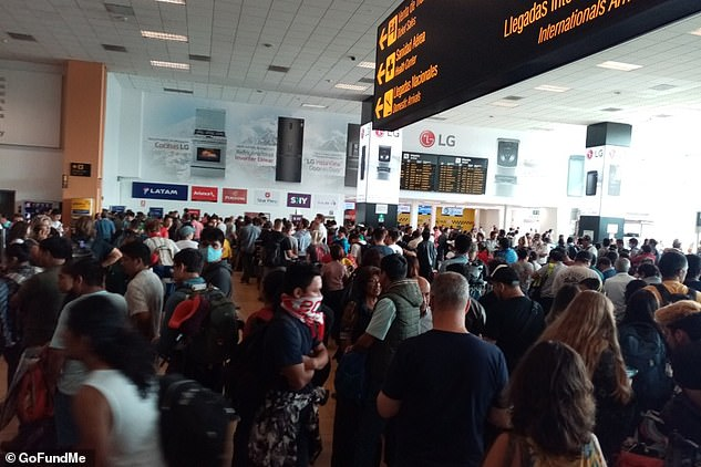 Hundreds of people were stranded in Peru after the South American nation suddenly shut its borders after declaring a state of emergency due to coronavirus