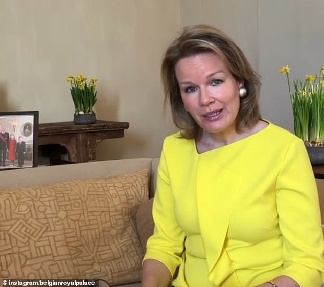 BELGIUM: Queen Mathilde shared an Instagram video encouraging young people to read more while on lockdown. The video is thought to have been filmed inChâteau de Laeken