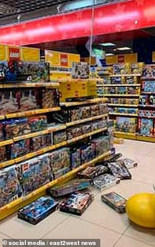 Products fell off the shelves of shops
