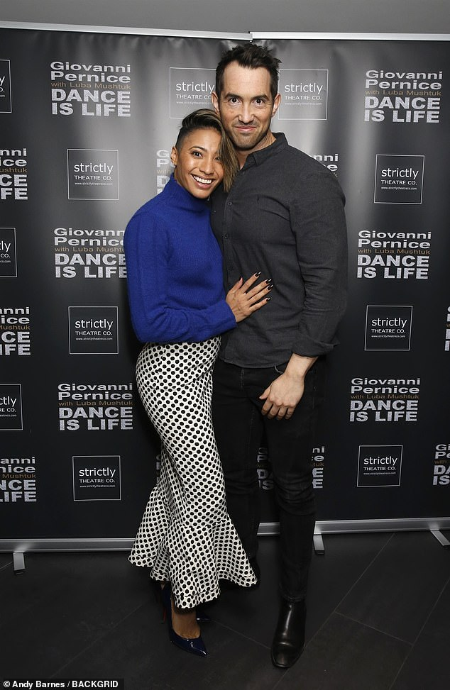Cute couple:Karen is also in a relationship herself, with opera singer David Webb, 36, who she has admitted she would be open to marrying