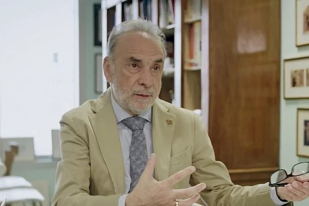 Professor Giuseppe Remuzzi (pictured) has denied commenting on the origin of the coronavirus amid controversy. He later told Chinese media that the key point of his comments was how far the virus had spread before it was discovered, not where it came from