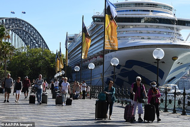 The Princess Cruises-operated Ruby Princess ship returned to Sydney on Thursday with 2,647 passengers on board - all were allowed to disembark without