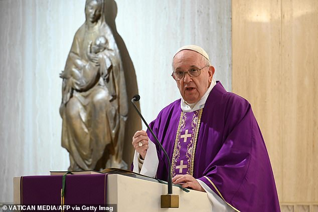 Pope Francis urged Christians not to succumb to the evils of self-pity and to stop complaining about their lives rather than taking action during a Mass livestreamed from his Vatican home
