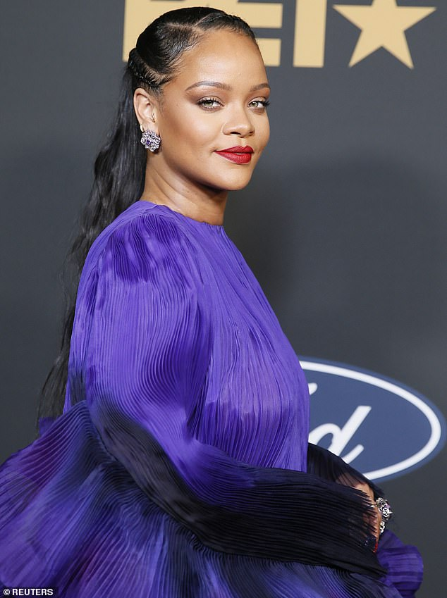 Sparks flying: Rihanna and Drakeexchanged some flirtatious comments Tuesday on Instagram (Rihanna pictured in February, 2020)