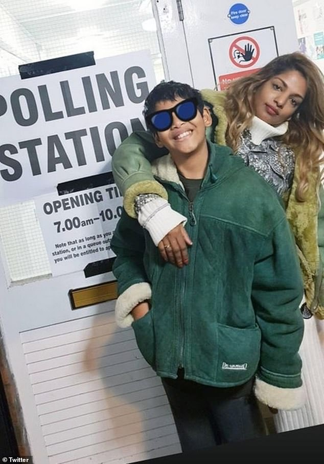 Defiant: M.I.A. has already spoken of her son Ikyhyd 11's discomfort after being vaccinated before starting school