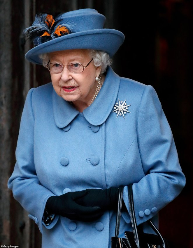 Buckingham Palace scrapped a national televised address about coronavirus from the Queen (pictured at the Commonwealth Service earlier this month) 'for her own safety' and to keep the airways clear for politicians and medical professionals, a royal expert has claimed