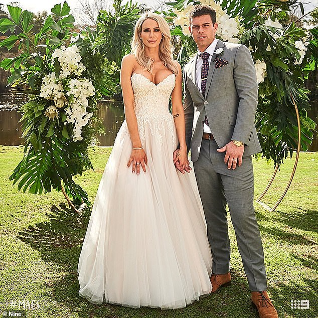 Trouble in paradise: Meanwhile, Stacey and Michael (pictured) chose to stay on the program and are due to have their 'final vows' next week ahead of the reunion episode