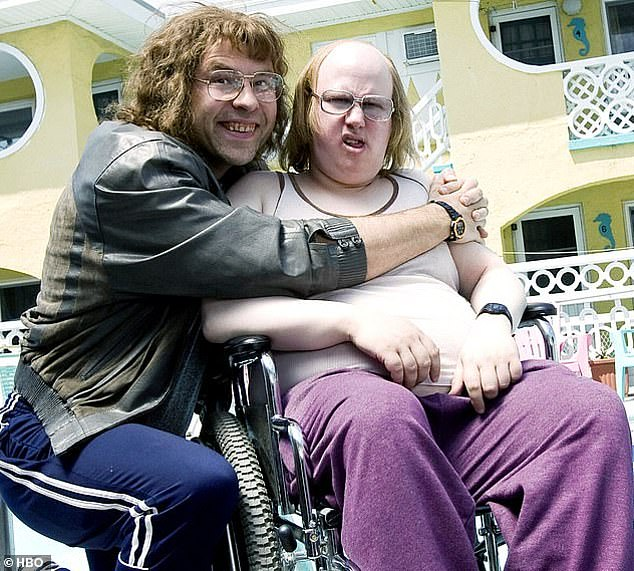 Cashing in: Sources claimed that streaming giant Netflix is hoping to clinch the show with a highly lucrative offer as Little Britain makes its anticipated return (pictured in a show still)