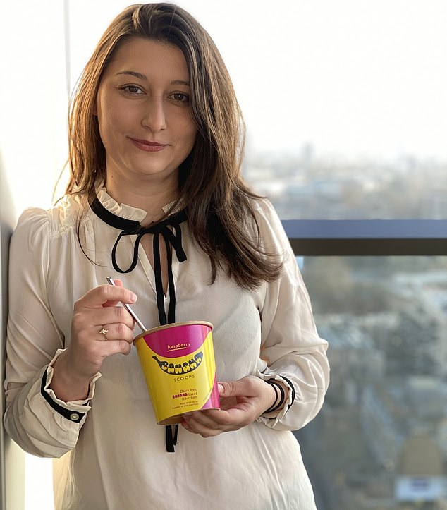 Jess Salamanca, pictured, who started Banana Scoop in June, said that she is unable to claim under Rishi Sunak's new scheme because she has only been operating for 10 months