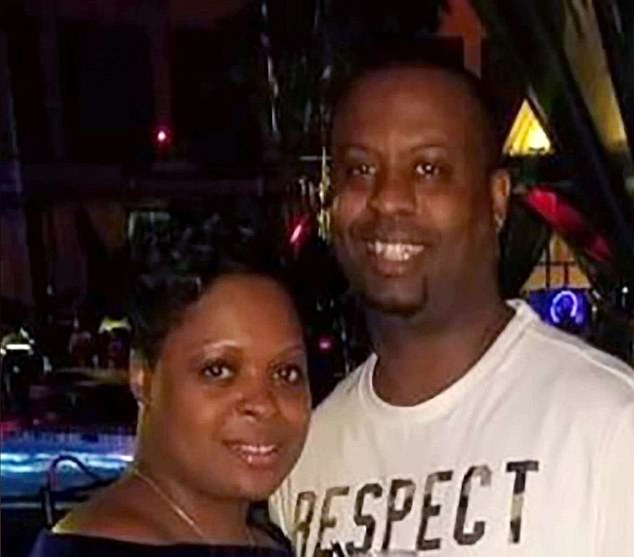 Erika Cave-Miller (left) slammed President Trump over his suggestion that American's should get back to work as early as Easter after Jermaine (right) died