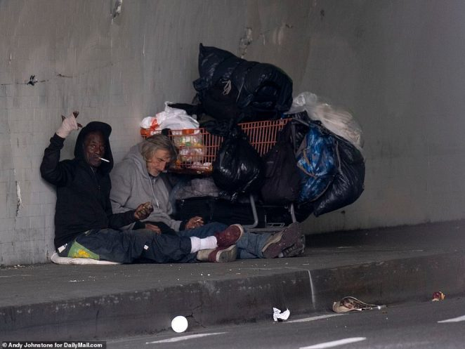 Georgia Berkovich, of Skid Row's Midnight Mission which provides three meals a day to the area's homeless, says the crisis has seen the numbers coming to them for food shoot up