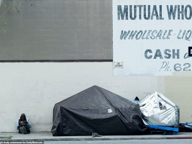 Overdoses are a regular occurrence on Skid Row, with EMTs seen arriving three times in one hour on Wednesday