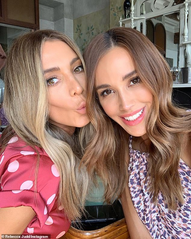 Besties: Among the stars in Rebecca's celebrity group chat was her best friend and fashion designer Nadia Bartel