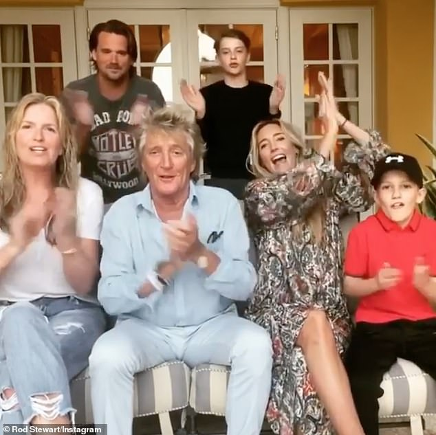 Thanks!Sir Rod Stewart and his family have thanked the NHS from Miami, Florida, in a sweet video shared to Instagram on Friday amid the global coronavirus crisis