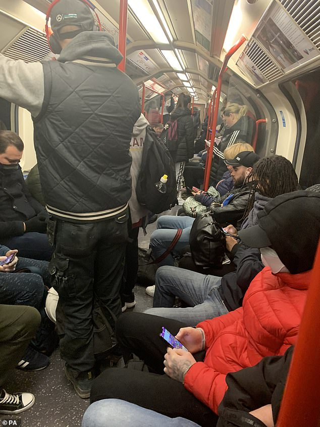 Despite calls for only essential workers to make the daily commute, the underground is remains bustling with members of the public unable to adhere to social distancing