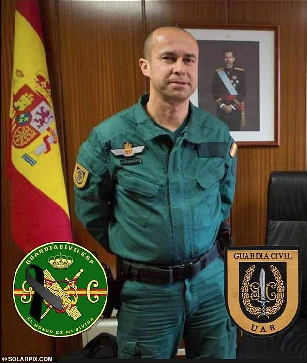 Jesus Gayoso Rey, 48, (pictured) lost his fight for life on Friday at a hospital in the northern Spanish city of Logrono