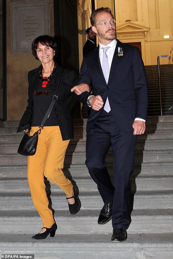 Princess Maria Teresa de Bourbon Parme and Prince Jaime de Bourbon Parme arrive for the presentation of her book ion 2014