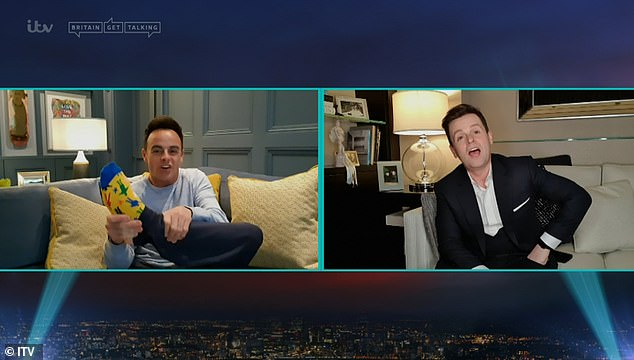 This is new!The presenters introduced a compilation of some of the show's best moments from their homes with Dec also poking fun at Ant for failing to wear a suit for the occasion