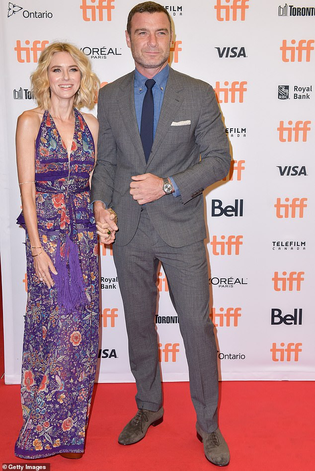 Amicable exes: They have shifted to Los Angeles to ride out the coronavirus pandemic with Liev's children and their mother Naomi Watts; Liev and Naomi are pictured in September 2016