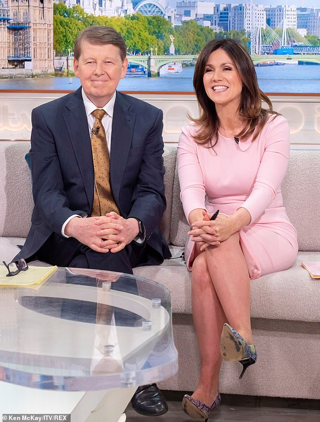 Together again:Last month, Bill returned to TV with his former co-host Susanna Reid, as he stood in for Piers Morgan on Good Morning Britain