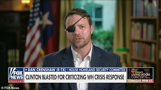 Texas Republican Rep. Dan Crenshaw has criticized former Secretary of State Hillary Clinton after she took several swipes at the president on Twitter over his performance
