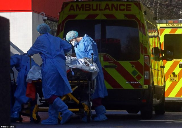 Professor Neil Ferguson said he had detected 'early signs' that the spread was being curbed by lockdown, with the rate of increase in hospital admissions easing
