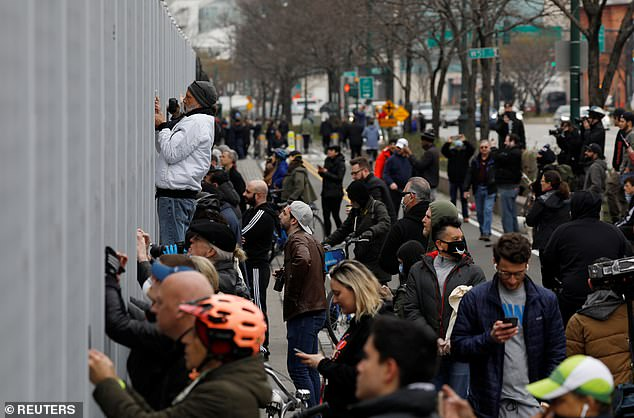New York Governor Andrew Cuomo issued a shelter-in-place order on March 22, stating it is 'the most drastic action we can take', but Wired found one-fourth of New Yorkers are misinformed what that means. People gathered to watch the USNS Comfort dock at Pier 19 last month and disregarded social distancing to catch a peak at the ship
