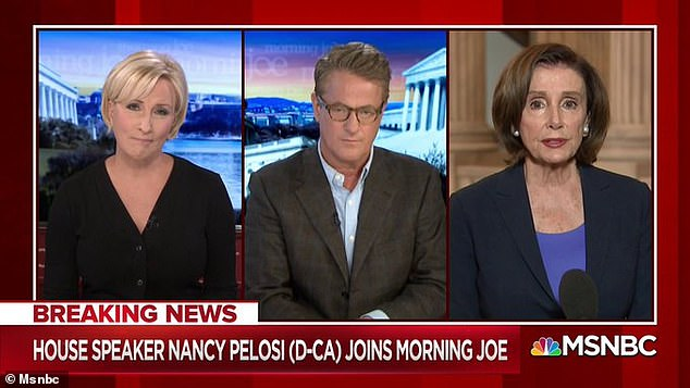 'If it's necessary, I'm sure we will speak,' Pelosi told the Morning Joe Panel on Tuesday.'I don't know what I would learn in a conversation with the president'