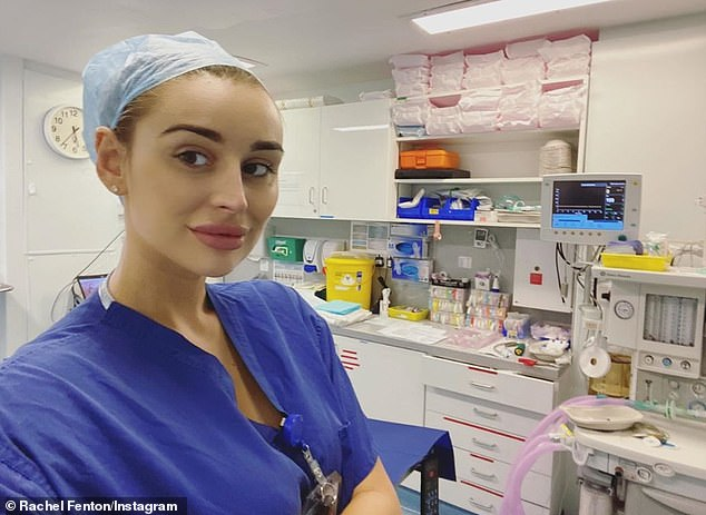 Nurse: The 27-year-old Love Island star, who works as an orthopaedic clinical nurse specialist, revealed that she took the test after losing the ability to taste and smell