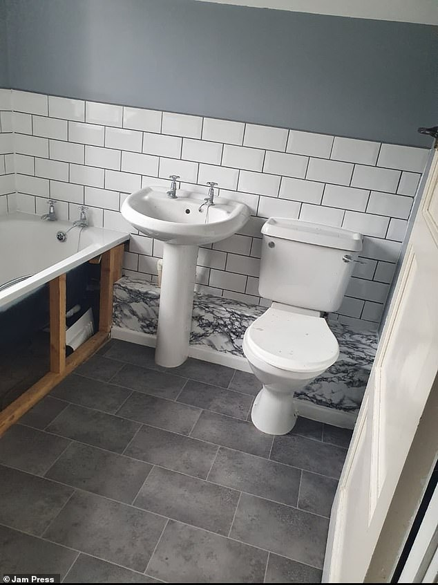 In total, the bathroom cost £223 to update, but Victoria said her efforts were worth it, and advised people that it looked 'worse before it look[ed] better'