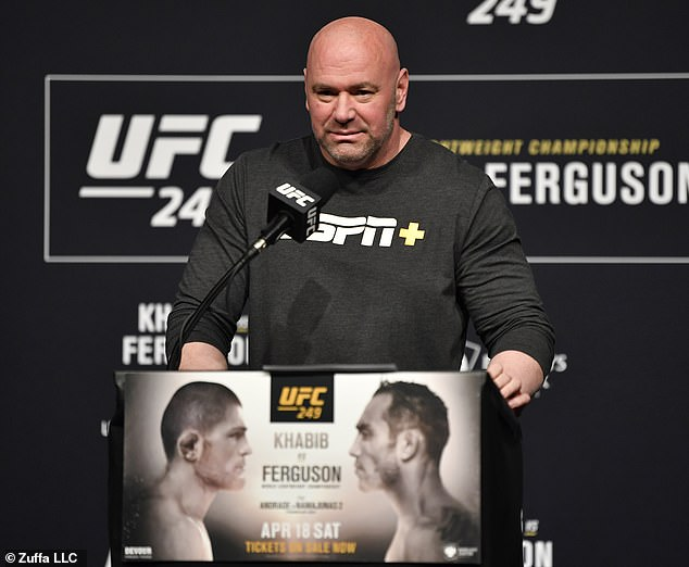 Khabib's withdrawal left UFC chief Dana White scrambling for a replacement