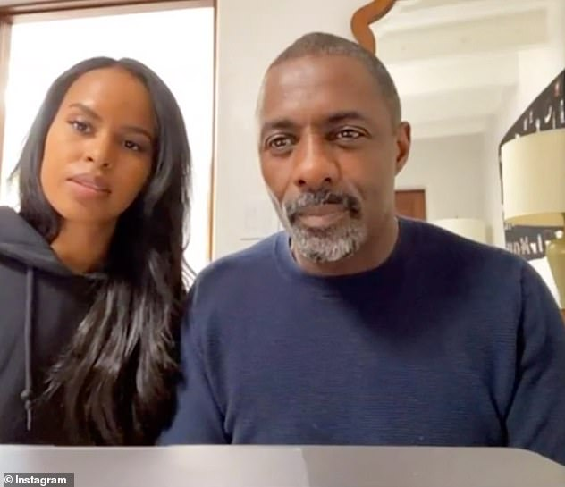 Also positive: Idris Elba and his wife Sabrina also recently confirmed they'd tested positive for coronavirus