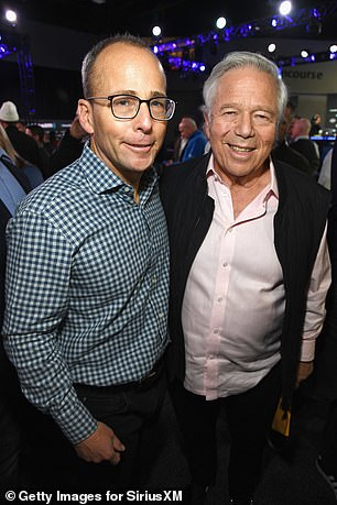 Robert Kraft's son Jonathan (left), president of the Patriots and board member of Massachusetts General Hospital, suggested using one of the team's planes for the masks.