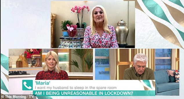 At Home: While Holly and Phil continue to present from ITV studios, most of their guests, including regular presenters Vanessa Feltz, participate in the show from their home