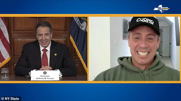 Siblings: Cuomo and his brother Andrew, the governor of New York, made a series of playful fraternal jokes during the press briefing on this last coronavirus
