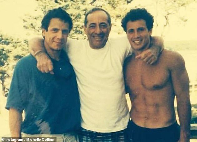 Symptoms: Cuomo revealed he had such severe fevers that he hallucinated a conversation with their late father Mario Cuomo (photo with Andrew and Chris)