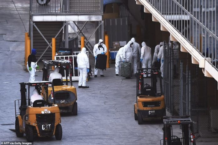 Baggage removed from the ship will also be disinfected before being returned to travelers for their return journey.