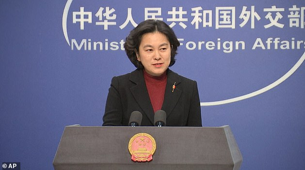 Hua Chunying (pictured), a spokesperson of the Chinese Ministry of Foreign Affairs, has condemned'those who are in charge of the US', labelling their action as 'shameless'