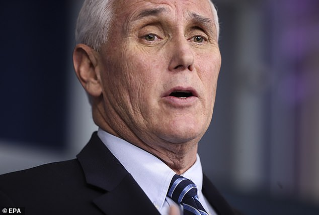 US Vice President Mike Pence (pictured on April 1) has blamed the United States' slow response on China and the US CDC. He told CNN on Wednesday: 'The reality is that we could have been better off if China had been more forthcoming'