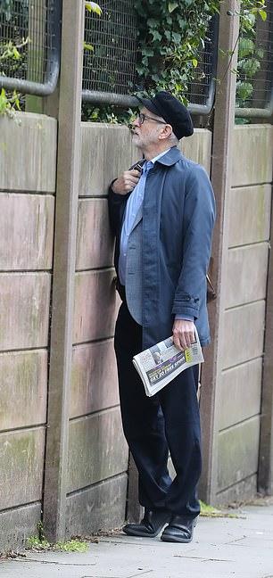 Mr Corbyn taking a stroll