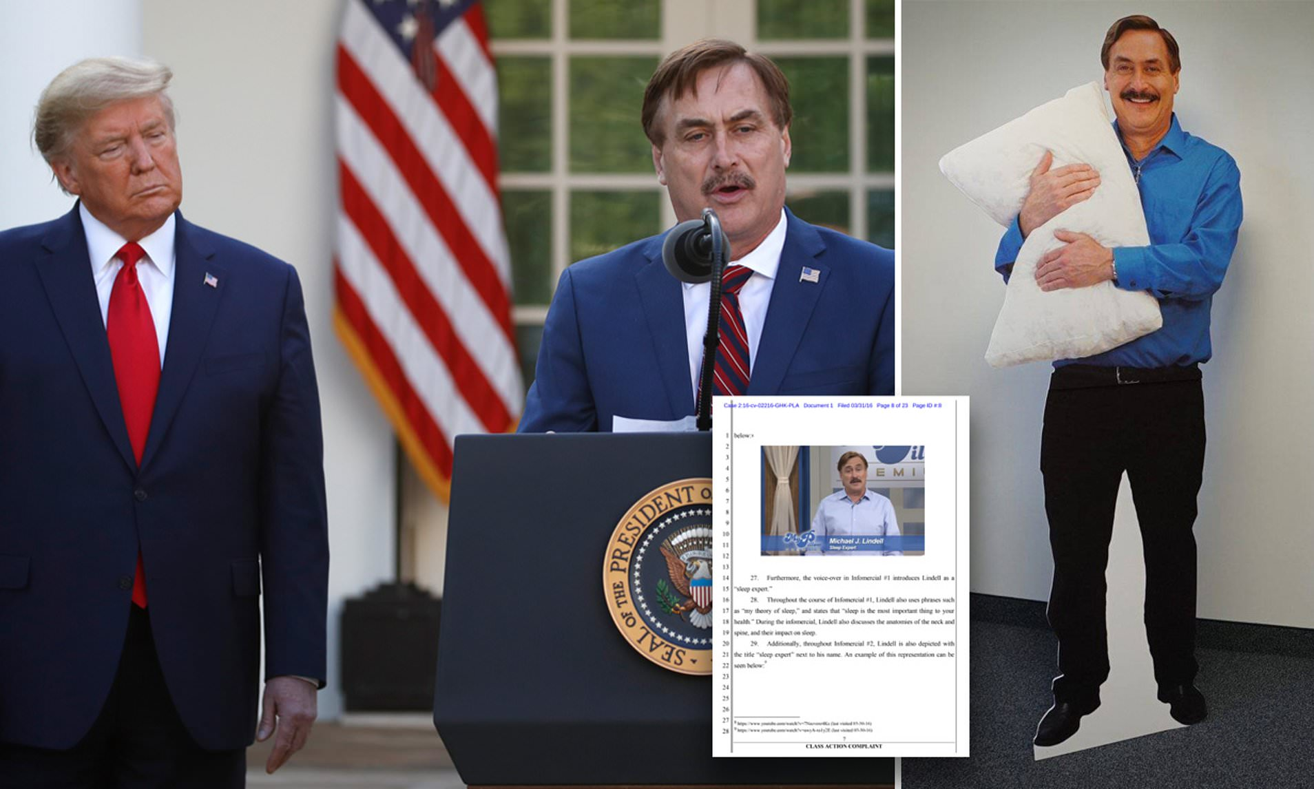 mike lindell my pillow ceo and friend