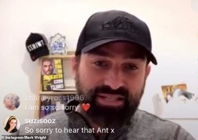 Tragic loss: Ant Middleton has revealed his mother died from cancer two days ago aged 62