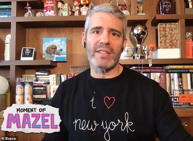 Paying tribute:Andy Cohen reminisced about how Peter edited the very first episode of RHONY, along with some of the show's most iconic moments