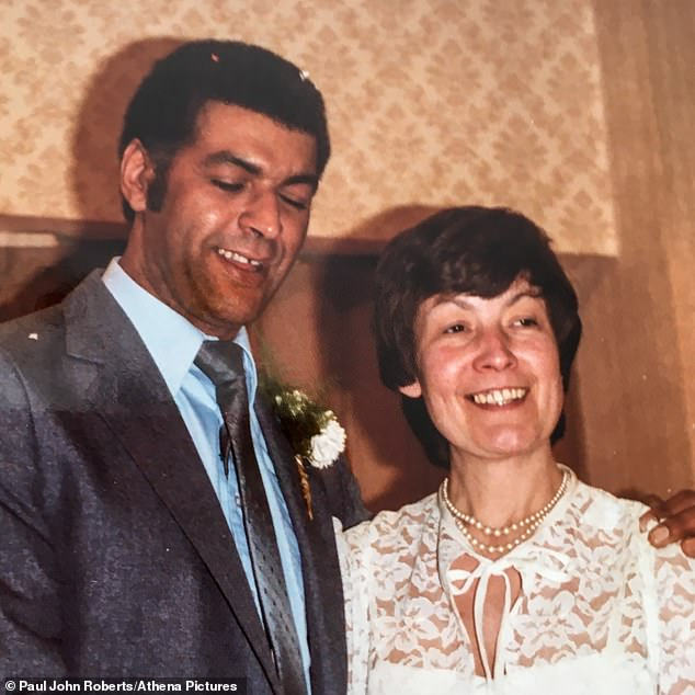 Peter Cadogan with wife Susan, seen together on their wedding day 35 years ago